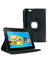 "AE 360 Rotating Leather Stand Case Cover for Amazon Kindle Fire HD 7 inch "" BLACK"