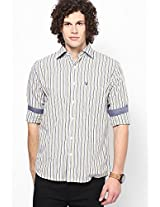 White Stripes Sport Fit Casual Shirt