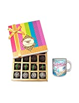 Sweet Sensations With Birthday Mug - Chocholik Belgium Chocolates