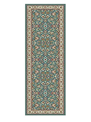 Universal Rugs Capri Traditional Runner, Blue, 2' x 8'
