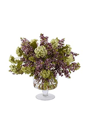 Lilacs in Glass Vase, Purple
