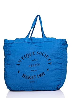 Hakei Bolso Lino Colores Lavado Antiqueado (Azul)