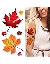 Supperb® Temporary Tattoos - 3d Autumn Leaves