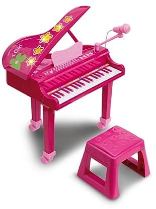 Bontempi Piano electrónico con micrófono rosa