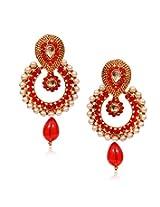 11-Girls Beautiful Style Diva Red Designer Earring