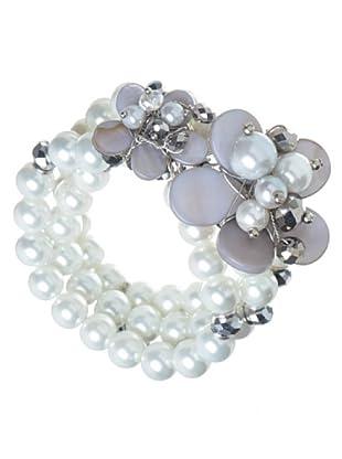 Anna Biblò Le Perle Bracciale Floral grigio