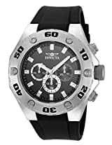 Invicta Men's Quartz Watch with Black Dial Chronograph Display and Black PU Strap 21563