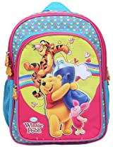 Pooh School Bag WTP Friends with Pouch, Multi Color (16-inch)
