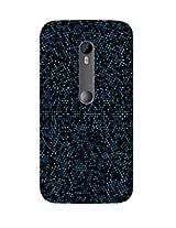 GripIt Blue Matrix Case for Motorola MotoG 3rd Gen