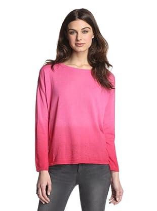 525 America Women's Dip Dye Pullover (Hot Pink Combo)