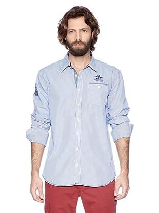 NZA New Zealand Auckland Camisa Manga Larga Feneo (Azul Eléctrico)