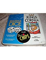 Kings in the Corner & Sequence Dice game & The Game of Chips