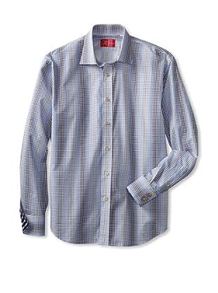 Rufus Men's Button-Up Shirt (Blue)