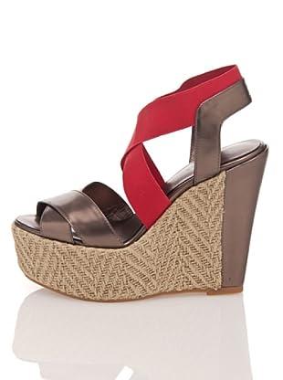 Apepazza Keil-Sandalette Elinor (bronze/rot)