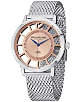 "Stuhrling Original Men's 388M.04 ""Winchester Del Sol Elite"" Skeletonized Stainless Steel Watch with Mesh Bracelet"