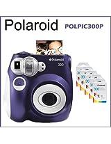 Polaroid 300 Instant Camera Purple + 5 Packs Polaroid Instant Film 300