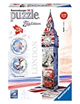 Ravensburger 3D Puzzles Big Ben Flag Edition, Multi Color (216 Pieces)