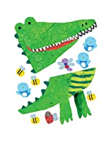Wallies Peel and Stick Wallies Crocodile Growth Chart