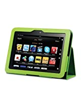 """Acase Kindle Fire HD Case - New Kindle Fire HD 7 Inch Tablet Cover / Kindle Fire HD 7"""" Tablet Premium PU Leather Case with Flip Stand (GREEN)"""