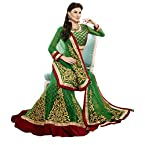 Sensational Velvet Bordered Net Lehenga Choli 3140