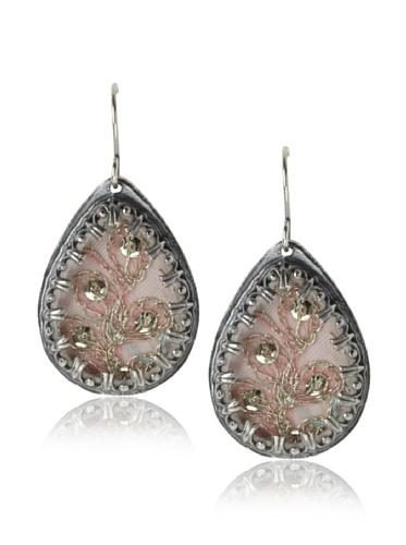 Presh Silver & Light Pink Teardrop Earrings
