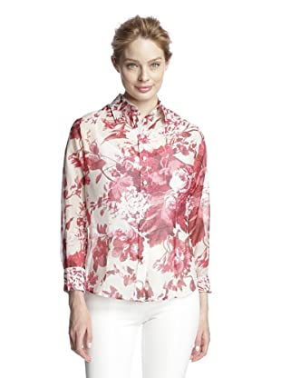 Craig Taylor Women's Romance in the Rosegarden Top (Red/White)