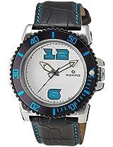 Maxima Hybrid Analog White Dial Men's Watch - 29828LPGI
