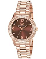 Gio Collection Analog Brown Dial Women's Watch - G2012-77