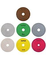 Super 7 Piece Polishing Pad Set (Multi-Coloured)