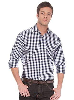 Arrow Camisa Kent (Azul Marino / Blanco)