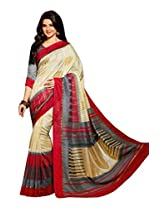 Beige Color Art Bahgalpur Silk Saree with Blouse 12548