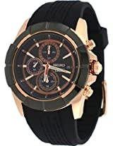 Seiko Lord Rose Gold-Tone Resin Chronograph Mens Watch Snde78