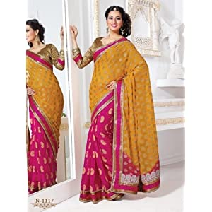 Sareeswarg Designer Bhagalpuri Silk Saree - Beige