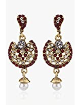 Alloy Earring With Purpel Colour Stone NIKI Jewels