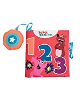 Baby Genius 1-2-3 Count Soft Activity Book with Sound for Infants by Manhattan Toy