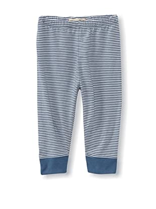 Munster Kid's Slick Cotton Jersey Pants (Dusty Blue Stripe)