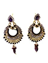 Aabhushan Jewels Gold-Plated Hoop Earring For Girls (Gold)