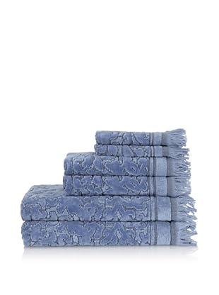 Famous International Baroque 6-Piece Towel Set (Stonewash)