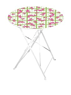 Esschert Design Teatowel and Flower Print Bistro Table