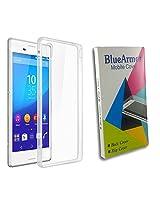 BlueArmor Soft Silicone Back Cover Case For Intex Aqua Ace - Transparent