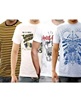 Funktees Best Price Premium Cotton M Size T Shirts - Pack of 4