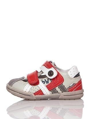 Billowy Zapatos Velcros (Rojo)