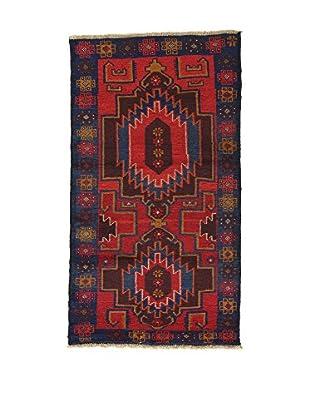 L'EDEN DEL TAPPETO Alfombra Beluchistan Rojo/Multicolor 85 x 151 cm