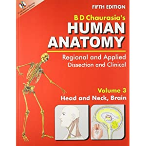 Human Anatomy: Regional and Applied (Dissection and Clinical) (in 3 Vols.) Vol. 3: Head, Neck and Brain with CD