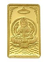 TBZ - The Original 15 gm, 24k(999) Yellow Gold Laxmi Precious Coin