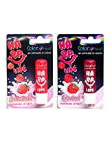 Color Fever Moisturizing Lip Balm Combo - Stawberry + Raspberry