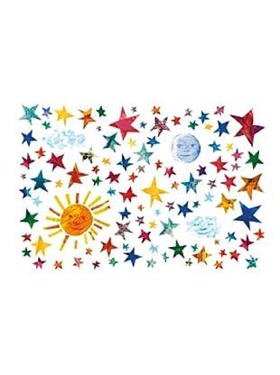 Beiwanda Kids Wandtattoo Die kleine Raupe Nimmersatt - Sonne, Mond und Sterne