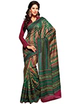 Orbymart Exclusive Designer Raw Silk Multi Colour Printed Saree - 55255066