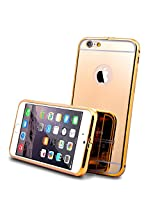 Kapa Luxury Mirror Effect Acrylic back + Metal Bumper Case Cover for Apple iPhone 5 5S - Gold