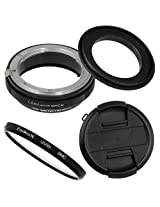 Fotodiox RB2A 62mm Macro Reverse Ring Kit w/ Nikon G & DX Lens Aperture Control, Lens Cap & 52mm UV Protector
